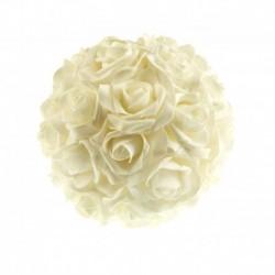 Boule Fleur Blanche Diam 20cm