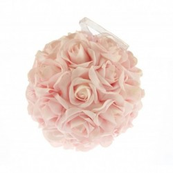 Boule Fleur Rose Diam 20cm