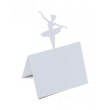 Marque-place Danseuse Blanc (x10)
