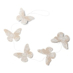 Guirlande papillons lin