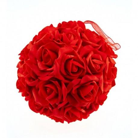 Boule Fleur Rouge 20cm Dragees Chocolats