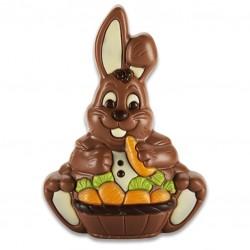 Lapin chocolat Lait Corbeille
