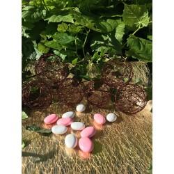 Boule à Dragées Métal Marron Chocolat (x6)