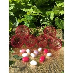 Boule à Dragées Métal Fuchsia (x6)