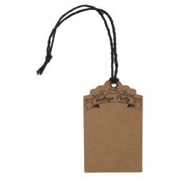 Marque place kraft vintage (x12) avec cordon