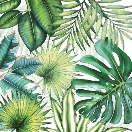 Serviettes de table Tropical Feuillage
