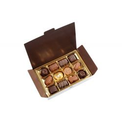 Boite de 12 chocolats assortis 125grs