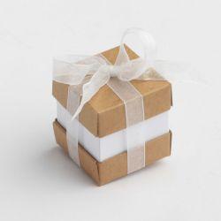 x 1 Mini cube duo Blanc/Caféo