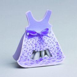 Contenant à Dragées Robe Violet (x1)