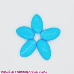 Dragées Amande AVOLA DAUPHINE Bleu Turquoise Brillant 1KG
