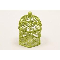Mini Cage à Oiseaux Métal Vert (x1)