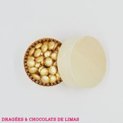 Dragées MINI CONFETTIS Chocolat Or 500G