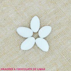 Dragées Amande AVOLA MARQUISE Blanc Mat 1KG