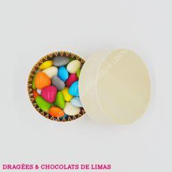 Dragées MINI COEUR Multicolore Brillant 1KG