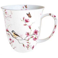 Mug Oiseau et Fleurs de Cerisier 0.4 L