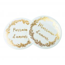 2 BADGES MARRAINE/PARRAIN D'AMOUR