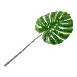 Feuille Tropicale Artificielle sur Tige Vert (x1)