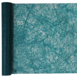 Chemin de Table Intissé Bleu Canard Rouleau 5m