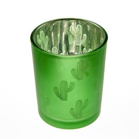 Bougeoir CACTUS Vert x1