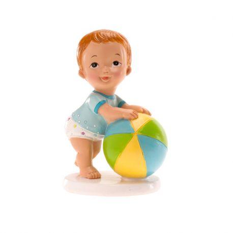 SUJET à poser Bébé Fille avec ballon x1 :