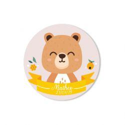 Sticker personnalisé Ourson x35