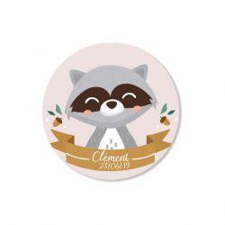 Sticker personnalisé Raton laveur x35