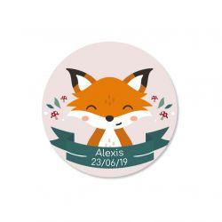 Sticker personnalisé Renard x35