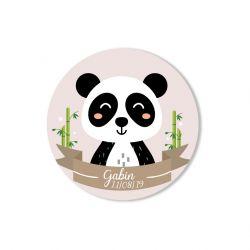 Etiquette personnalisée Panda x35