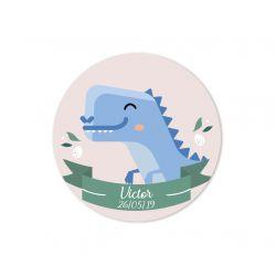Etiquette personnalisée Dinosaure x35