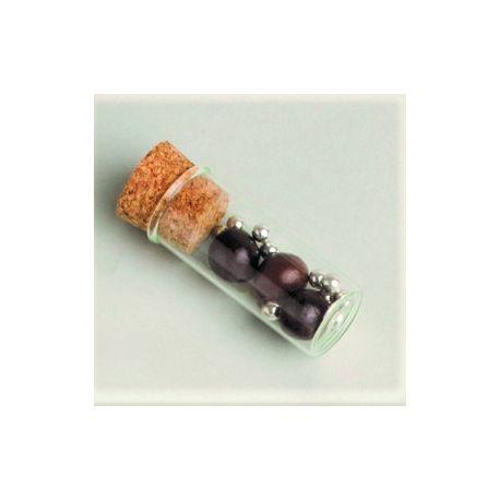 Eprouvette Verre 6 cm bouchon liège