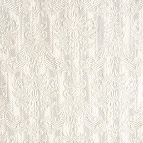Serviettes de Table Blanc Nacré ELEGANCE 33x33cm