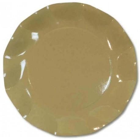 Assiettes Carton Taupe 27cm (x10)
