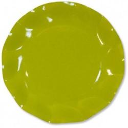Assiettes Carton Vert  27cm (x10)