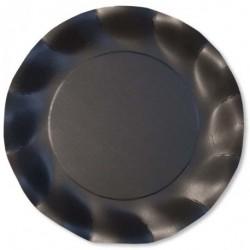 Assiettes Carton Noir Opaque 27cm (x10)