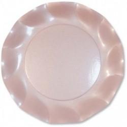 Assiettes Carton Rose Perlé 21cm (x10)