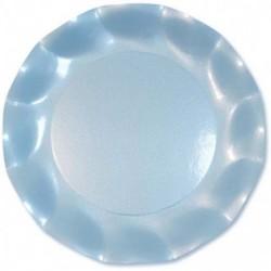 Assiettes Carton Bleu Ciel Perlé 21cm (x10)