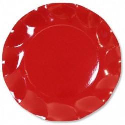 Assiettes Carton Rouge 21cm (x10)