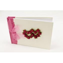 Livre d'Or Rose Fuchsia DOUBLE CŒUR