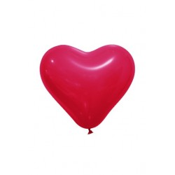 Ballon Coeur Rouge Opaque (x12)