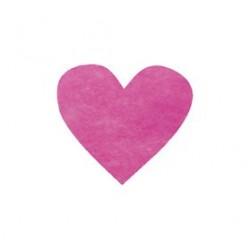 Confetti Coeur Fushia (x100)