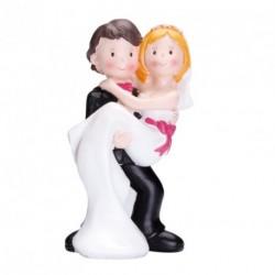 Sujet Gâteau Mariage Couple Mariés Porteur