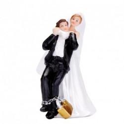 Sujet Gâteau Rigolo Couple Mariés Tiré Par Le Cou