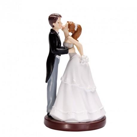 Sujet Gâteau Mariage Couple Mariés Bisou