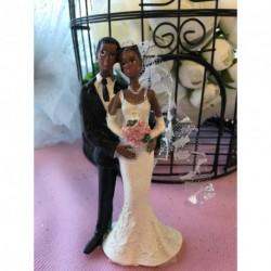 Sujet Gâteau Mariage Couple Assortis