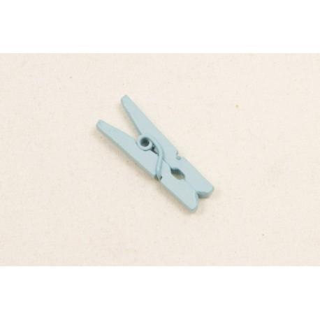 Mini Pince à Linge en Bois Bleu Ciel (x10)