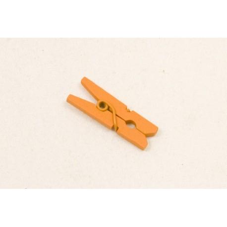 Mini Pince à Linge en Bois Orange(x10)