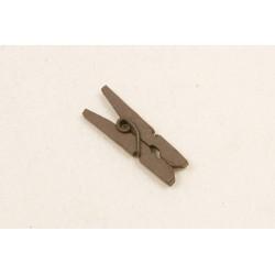 Mini Pince à Linge en bois Marron (x10)