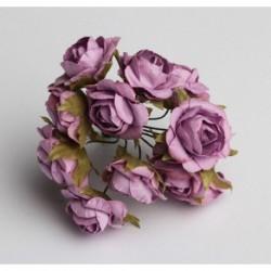 Roses sur Tige Lilas (x12)