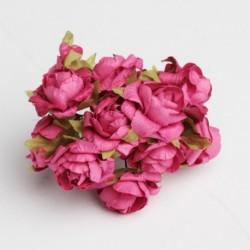 Roses sur Tige Fushia (x12)