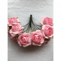 Roses sur Tige Rose (x12)